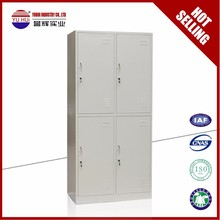 Hot Selling 4 Doors Steel Compartment locker / Room Locker with Adjustable Hanger