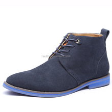 MS-006 high quality men dress shoes flat comfort suede leather boot shoes