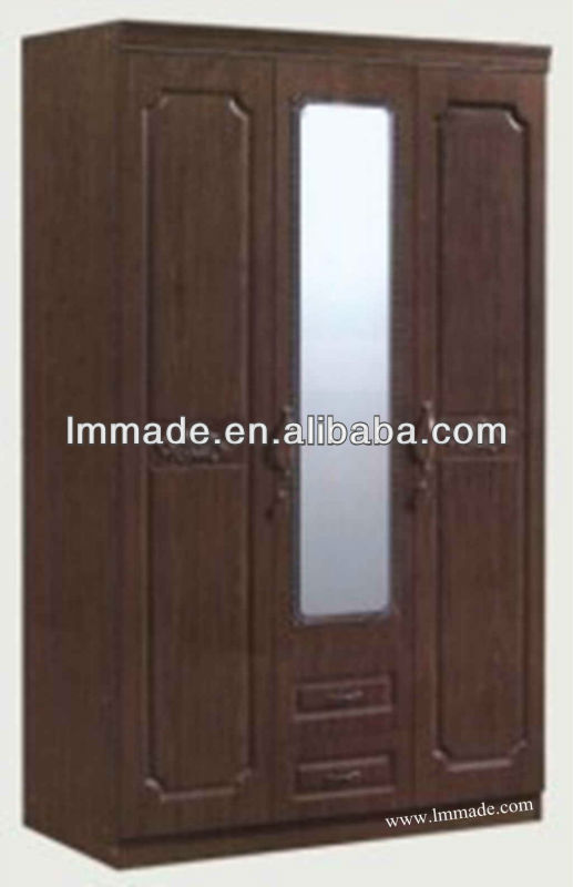 wooden wardrobe with louvered doors(200091-3)