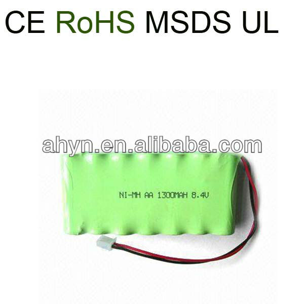 NIMH aa 1300mah 8.4v nimh batteries for electronic game Machine and electrical vehicles