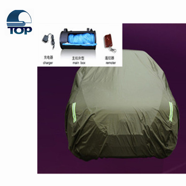 art outdoor Extra Heavy Duty 2016 remote control inflatable automatic car covers hail auto cover