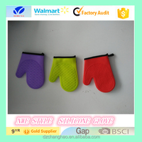 full body silicone glove print oven mitts