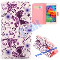 Fashion Cross Pattern Flip Stand TPU+PU Leather Case for Samsung Galaxy S5 Mini With Card Holder