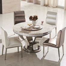 Wholesale latest modern design korean marble top round dining table DH-824