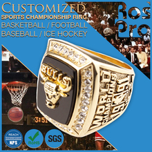 RosPro Gold Finish Basketball Champions Ring