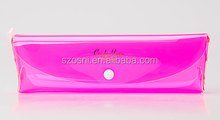 Osini Custom wholesale mini clear plastic candy color pvc plastic Transparent plastic pencil case