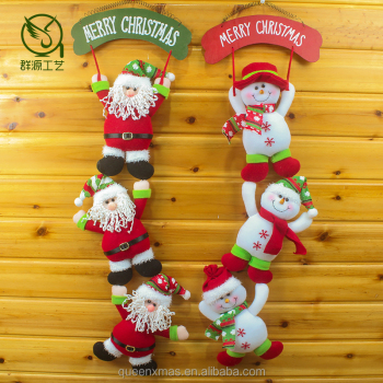 Best Selling Santa felt hanging retail christmas decoration