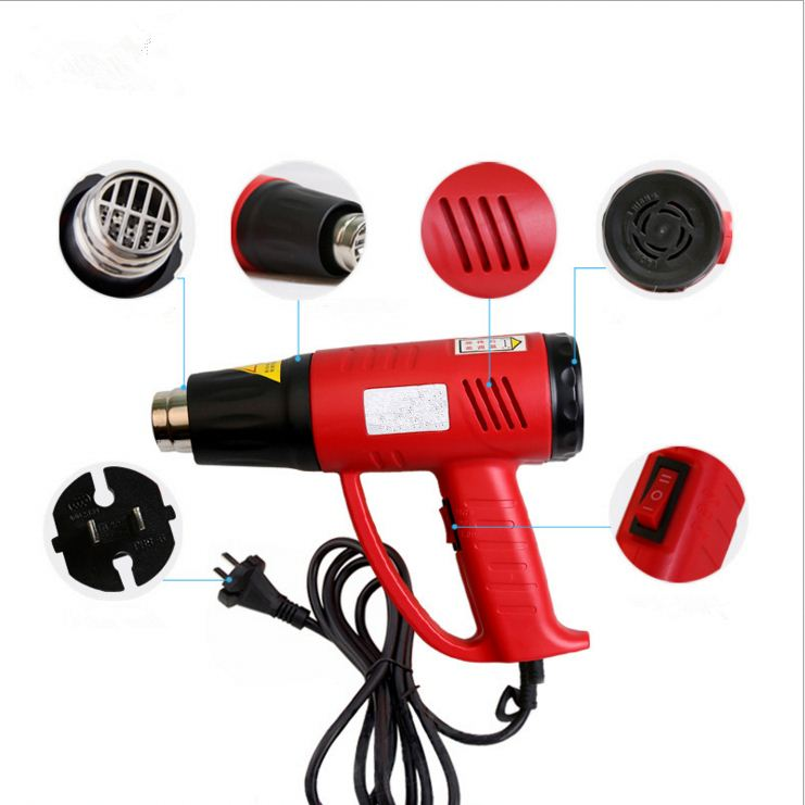 High Quality Lower/Higher Temperature Adjustable Led Digital Display Heating Air Gun Electric Hot Air Gun