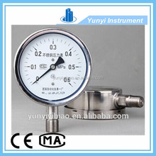 hydraulic oil filled stainless steel pressure gauge