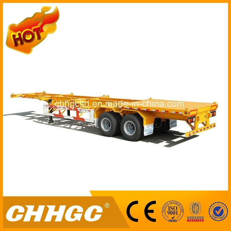 Made in China skeleton container chasis semi trailer for wholesales