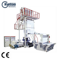 Taiwan quality Biodegradable plastic pe film aba film blowing machine extruder price