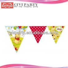 Fashion paper party banners with for party supplies portable flag pole