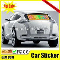 High quality sound activated equalizer sticker/el flashing car panel