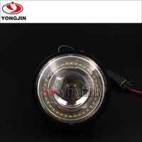 DOT certification 2pcs 4.5inch 30w chrome LED Fog Driving Light for Harley Motorcycle with LED angel eyes
