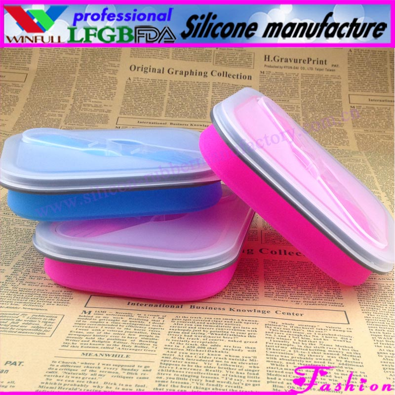 Eco friendly kids lunch boxes/kids bento boxes/silicone cookware