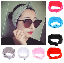 Plain Multi Style Wide Turban <strong>Headband</strong> for Sports or Fashion, Yoga or Travel