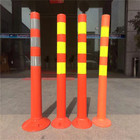 2017 hot sale flexible plastic traffic warning sign post