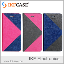 Different colors pu and tpu flip cover for iphone 6plus