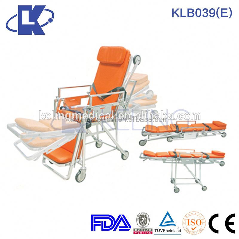 aluminum paramedic folding stretcher emergency patient stretcher trolley stair stretcher for ambulance