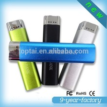 Ultra slim mini portable charger power bank 2600mah used mobile phones