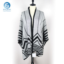 Wholesale super soft knitted winter poncho