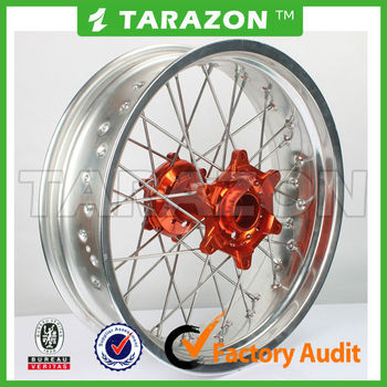 Custom aluminum motorcycle rear spoke wheels for KTM duck 200