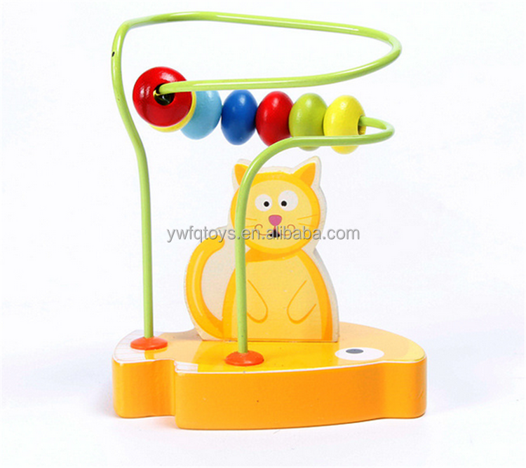 FQ brand hot sell children small wooden toys kids bead maze