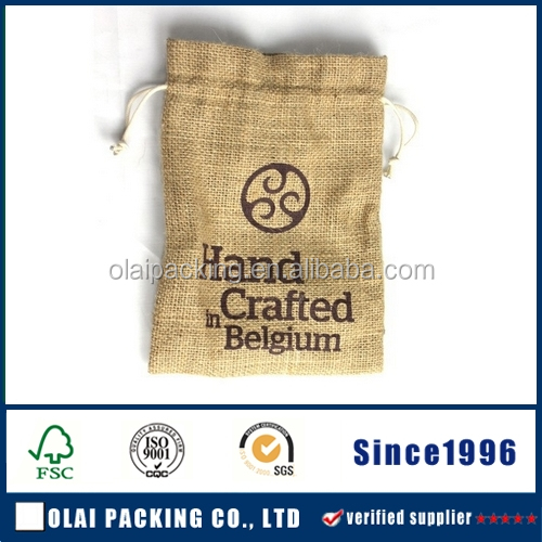 Jute Burlap Pouches Bags Drawstring Party Favors Jewelry Pouch,double-deck burlap jewelry pouch,