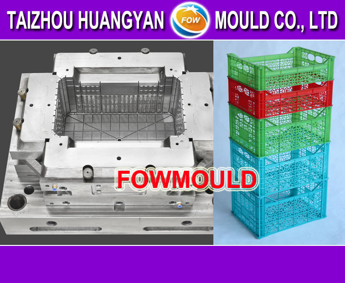 OEM 1 cavity hot/cold runner plastic injection crate mold for vegetable
