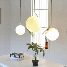 High quality Loft Modern Glass Ball Decorate Pendant lamp for restaurant