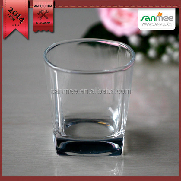 Glass Manufacturer Unique Shaped Cheap Whisky Glass Cup 8 oz Shot Glass