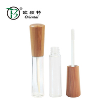 Custom unique overstock empty bamboo lip gloss tube for cosmetic