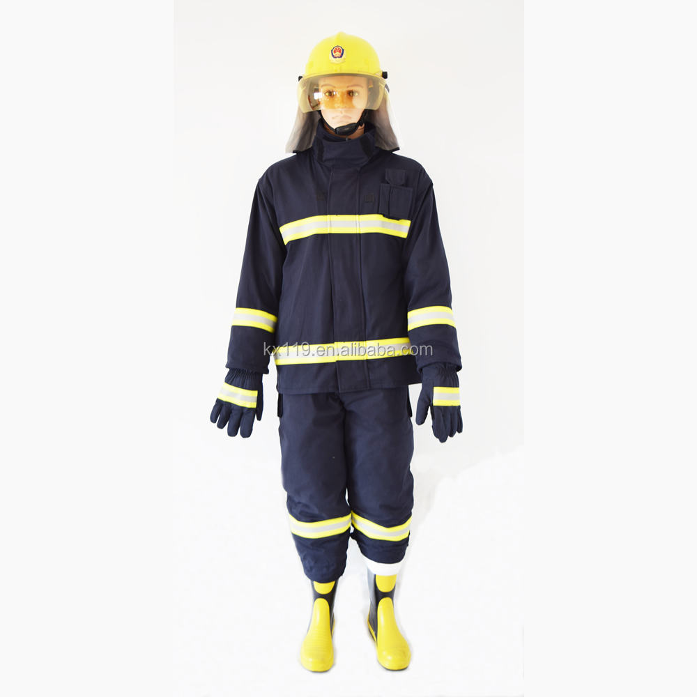 Firefighter used fire resistant clothing