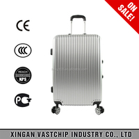 International stop lock wheels ABS Aluminum trolley luggage travel hard case
