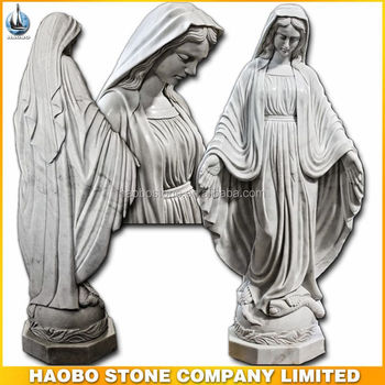 China White Stone Virgin Mary Statues