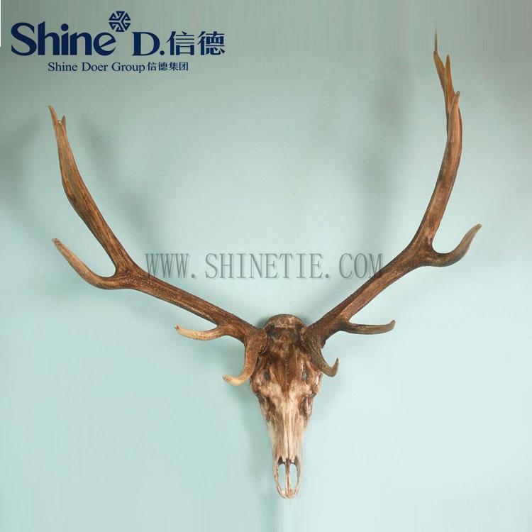 Elk Skull Large Horns Wall Mounted Deer Head Antlers Wall