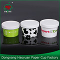 Double PE Coated Ice Cream Paper Cup With Lid Wholesale