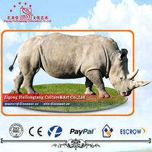 Outdoor Life Size Animatronic Animal Rhino