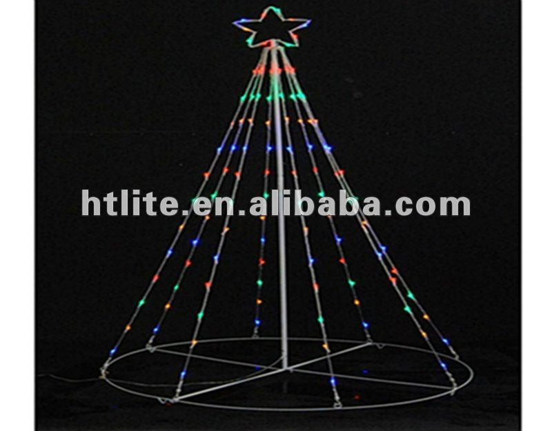 LED Tree light ,106 LED bulbs of multi-clor ,with star on the top .24V