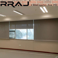 RRAJ Motorized Remote Control Roll up Blinds Shades
