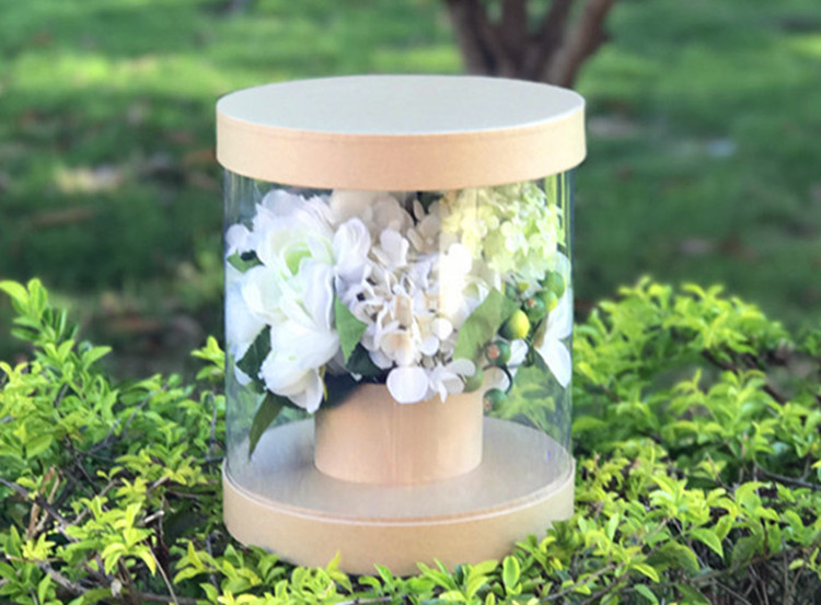 Manufacturer wholesale transparent round flower box