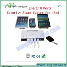 Univeral 8 USB Ports Charge Security Display Alarm System for iPad Samsung HTC etc.
