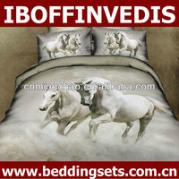 3D horse design bedding set with quilt cover bed sheet