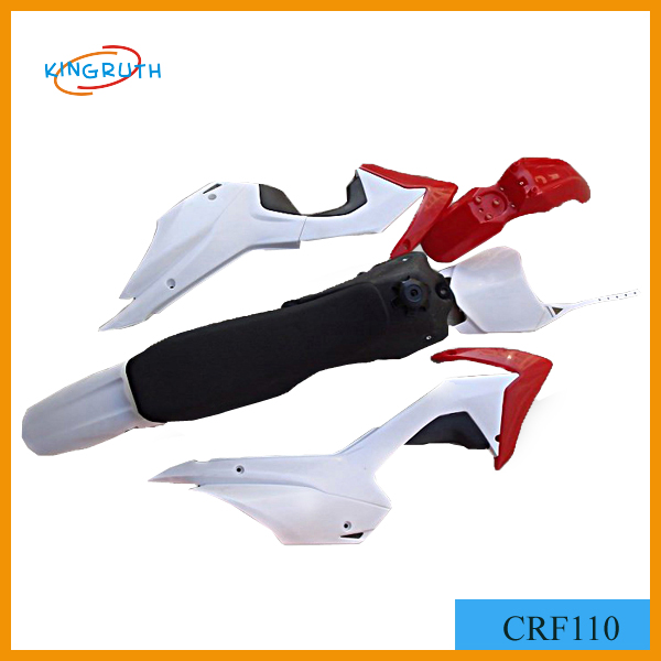 Motorcycle fairing body kits for CRF110 motorcycle plastic