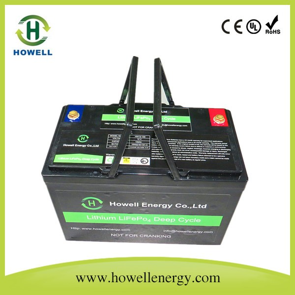 12V 100Ah LiFePO4 Battery with Carry Handle / Lithium battery 12V 100Ah