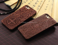 Mobile accessories Laser engraved custom wood phone case for iphone 6 wood case made in china