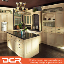 PVC Doors Design Modular White Kitchen Cabinets