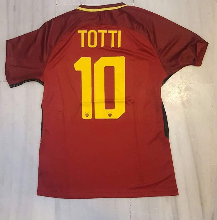2017 2018 Italy top quality Totti 10 Roma soccer jersey for AS football fans