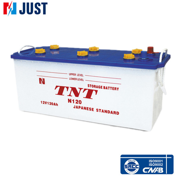 12V120Ah Dry Charaged Car battery Auto Parts (N120)