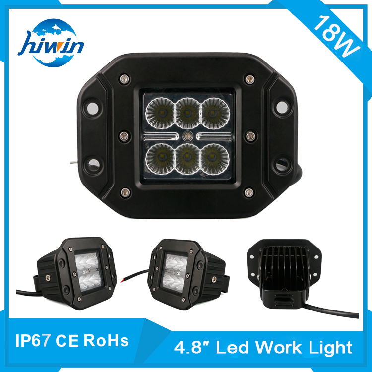Hiwin 4.8inch 18w off-road led work light flood clamp led machine work light factory HW-8018FC